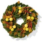 Fresh Magnolia Leaf Wreath