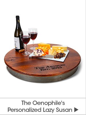 The Oenophile's Personalized Lazy Susan