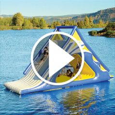 Play video for The Gigantic Water Play Slide
