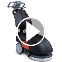 Play video for The Cordless Commercial Floor Scrubber