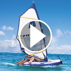 Play video for The Inflatable Windsurfer and Sailboat