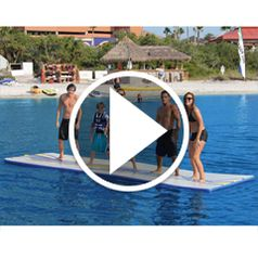 Watch The Inflatable Walk On Water Mat in action