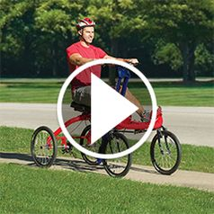Watch The Only Four Wheeled Rowing Cycle in action