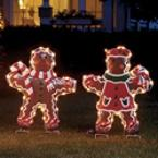 lighted gingerbread boy lighted gingerbread boy illuminated outdoor christmas decorations - Gingerbread Outdoor Christmas Decorations
