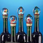Christopher Radko Snow-Globe Bottle Stopper