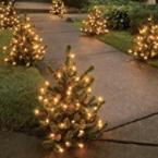 Pre-Lit 2 Foot Walkway Trees