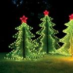 Illuminated 3-D Large Christmas Tree