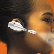 Effortless Over-Ear Book Light at Hammacher Schlemmer from hammacher.com