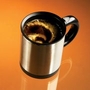 Self-Stirring Mug at Hammacher Schlemmer :  gadgets technology self stirring mug self-stirring mug