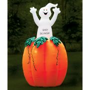 10-Foot Illuminated Jack O' Lantern With Pop-Up Ghost