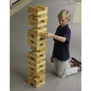 The Giant Outdoor Building Block Game. at Hammacher Schlemmer