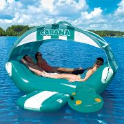 The Floating Cabana. at Hammacher Schlemmer from hammacher.com