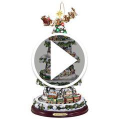 Watch  The Thomas Kinkade Animated Christmas Tree in action