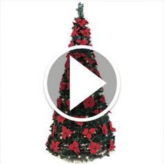 Play video for The 6 Foot Pop Up Poinsettia Tree