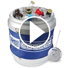 Watch The Remote Controlled Rolling Beverage Cooler in action