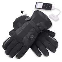 The iPod® Controlling Ski Gloves. at Hammacher Schlemmer :  mp3 cold winter music