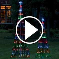 Watch The LED Light Show Tree in action