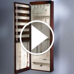 Play video for The 45inch Wall Mounted Lighted Jewelry Armoire
