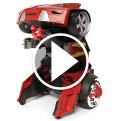 Watch The Remote Controlled Transforming Robot Car in action