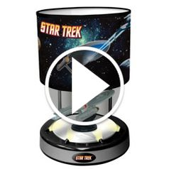Watch The Animated Musical Starship Enterprise Lamp in action