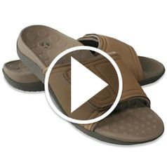 Play video for The Plantar Fasciitis Orthotic Slide Sandal