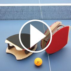 Watch The Wooden Table Tennis Mitts in action