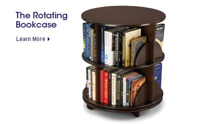 This Bi Level Bookcase Rotates 360º To Provide Easy Access To Reading  Material. A Simple Turn Spins The Bookcase So You Can Browse All Of Its  Contents. Photo