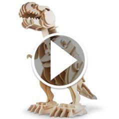 Watch The Wooden Animatronic Tyrannosaur in action