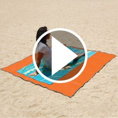 Watch The Sandless Beach Mat in action