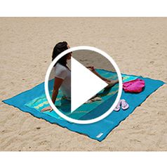 Play video for The Two Person Sandless Beach Mat