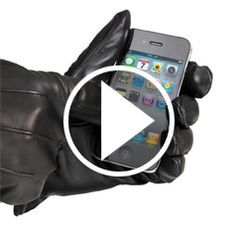 Watch The Touchscreen Leather Gloves in action