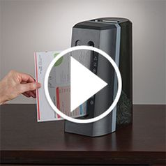 Play video for The Space Saving Desktop Shredder
