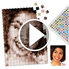 Watch The Infinite Image Portrait Puzzle in action