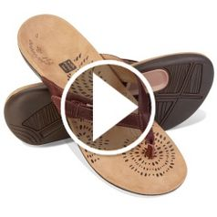 Watch The Lady's Overpronation Correcting Sandals in action