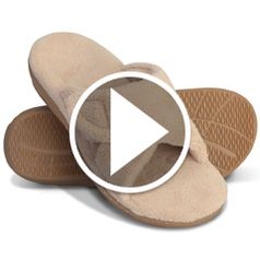 Watch  The Lady's Plantar Fasciitis Slipper Slides in action