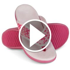Watch  The Lady's Plantar Fasciitis Slipper Sandals in action