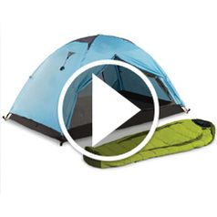 Watch The Backpack Tent And Sleeping Bag in action