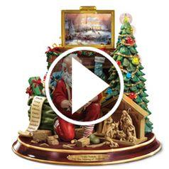 Watch  The Thomas Kinkade Woodcarving Santa in action