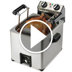 Watch  Watch The Only Indoor Rotisserie Turkey Fryer in action