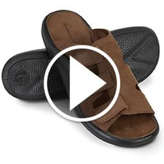 Play video for The Gentlemens Walk On Air Adjustable Sandals