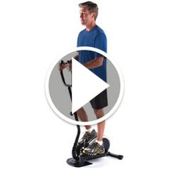 Watch Hideaway Elliptical Trainer With Handle in action