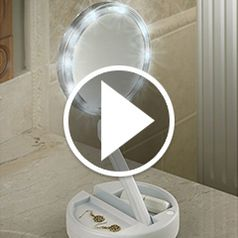 Play video for The Brighter Foldaway Vanity Mirror