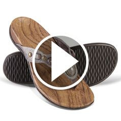 Watch  The Lady's Plantar Fasciitis Sparkling Sandals in action