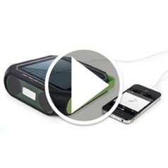 Watch  The Portable Solar Powered Speaker in action