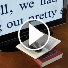 Watch The The Wireless Page to TV Magnifier in action� style=�border-width: 1px; border-style: solid;