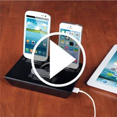 Watch	The Any Device Charging Dock in action