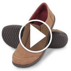 Watch  The Lady's Plantar Fasciitis Indoor/Outdoor Loafers in action