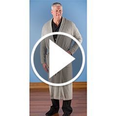 Watch The Men's Washable Cashmere Robe in action