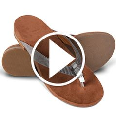 Watch The Lady's Plantar Fasciitis Buckled Sandals in action