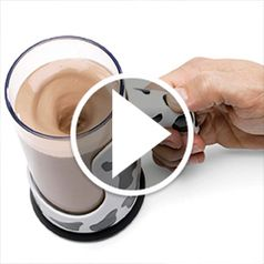 Play video for The Messless Chocolate Milk Mixing Mug